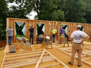 Walls going up on Habitat Veterans Build