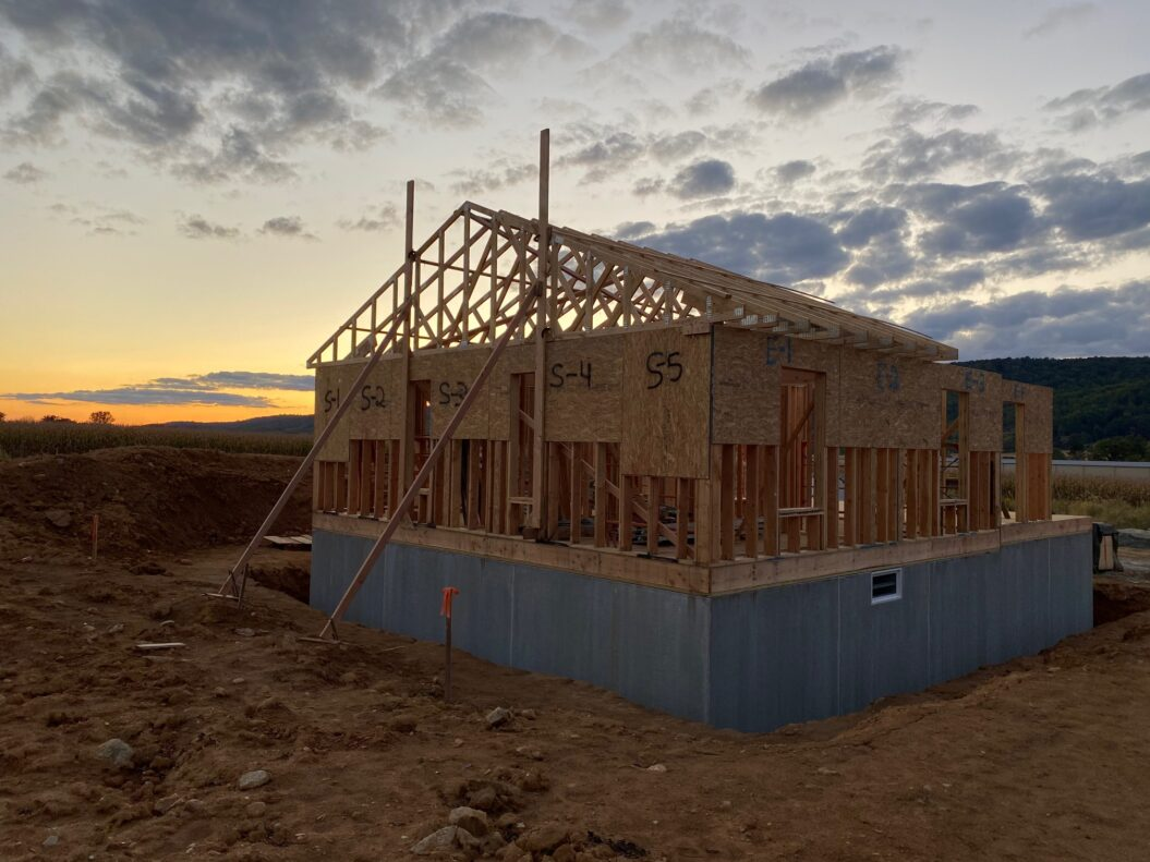 Walls and Roof are Framed