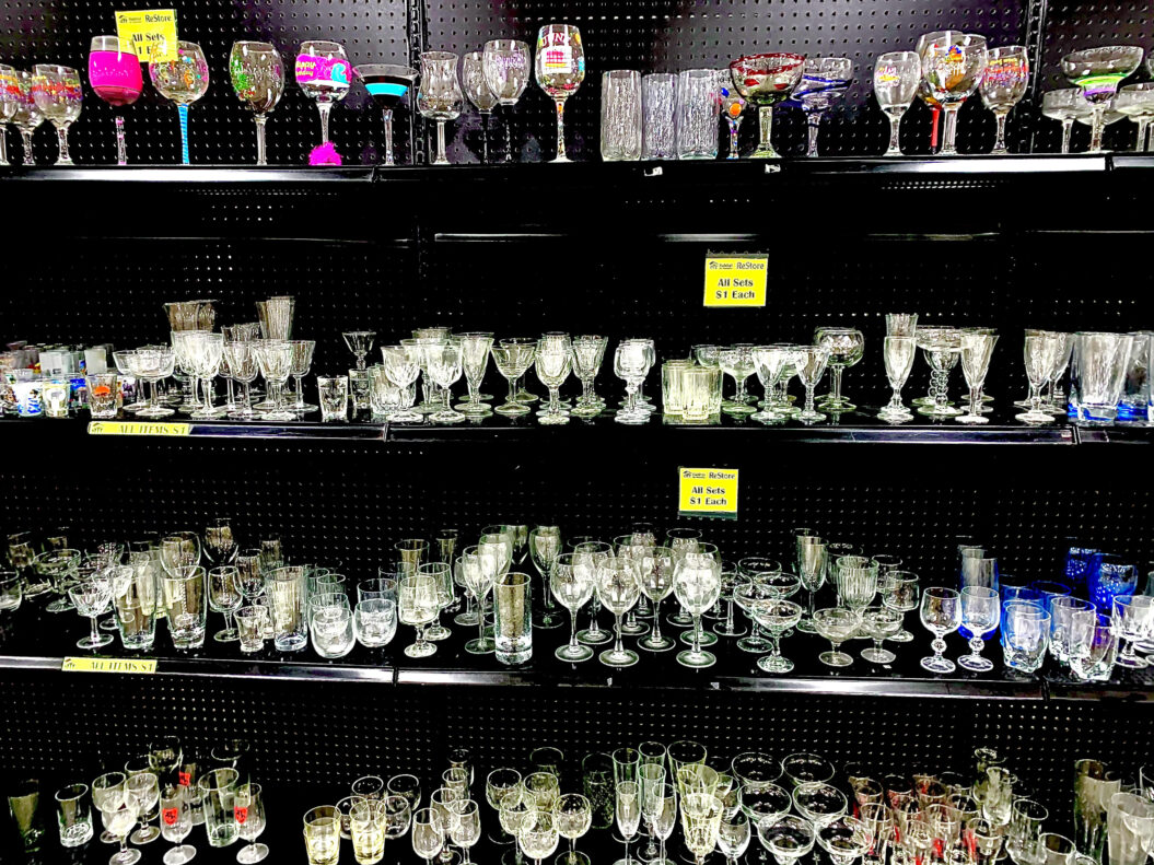 Dollar Section:  All items on black shelves are $1!