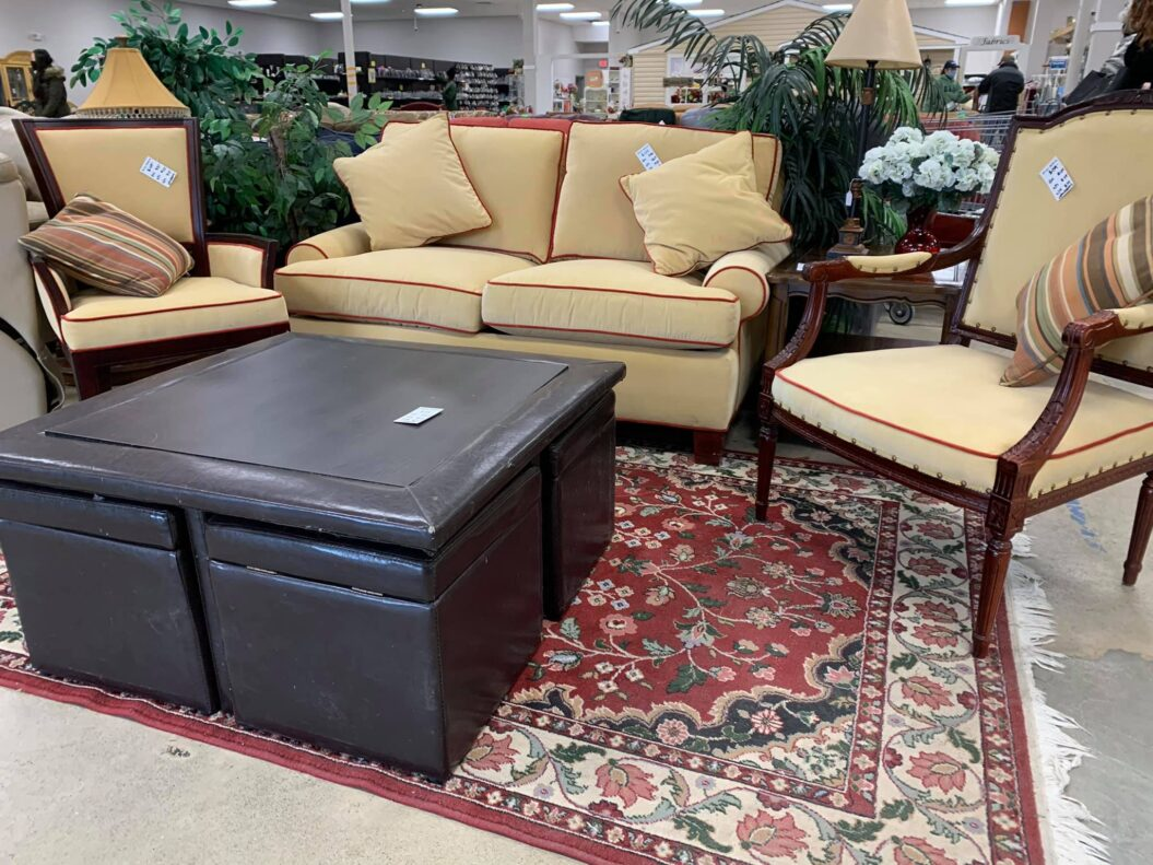 Love Seat and Side Chairs - ReStore Price: Loveseat $129 arm chair: $59, chair $49